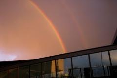 Regnbuer over Kastrup lufthavn